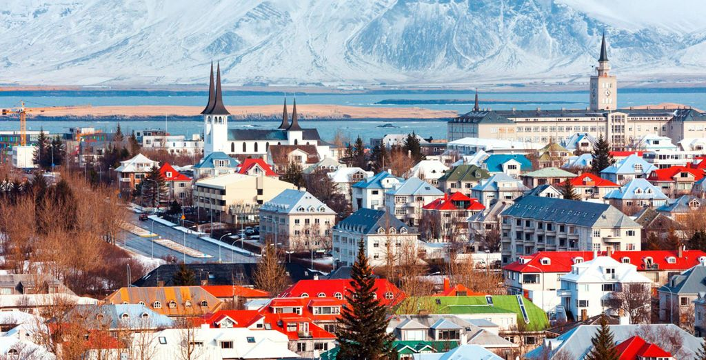 In downtown Reykjavik, with its epic surroundings