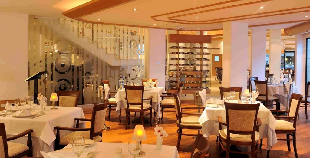 Your meals can be enjoyed at any of the resort's  elegant restaurants