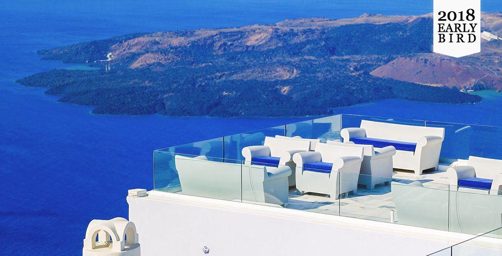 Admire incredible Caldera Views