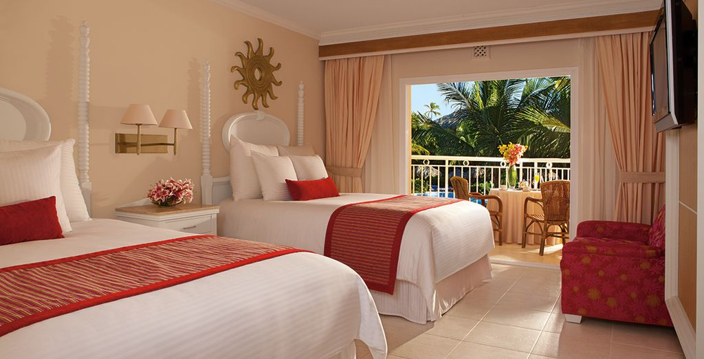 Our members will be upgraded to a Preferred Club Deluxe Tropical View, with exclusive privileges
