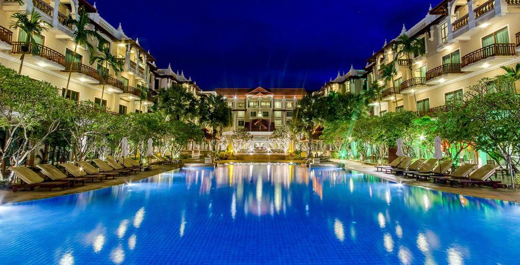 Glittering pools