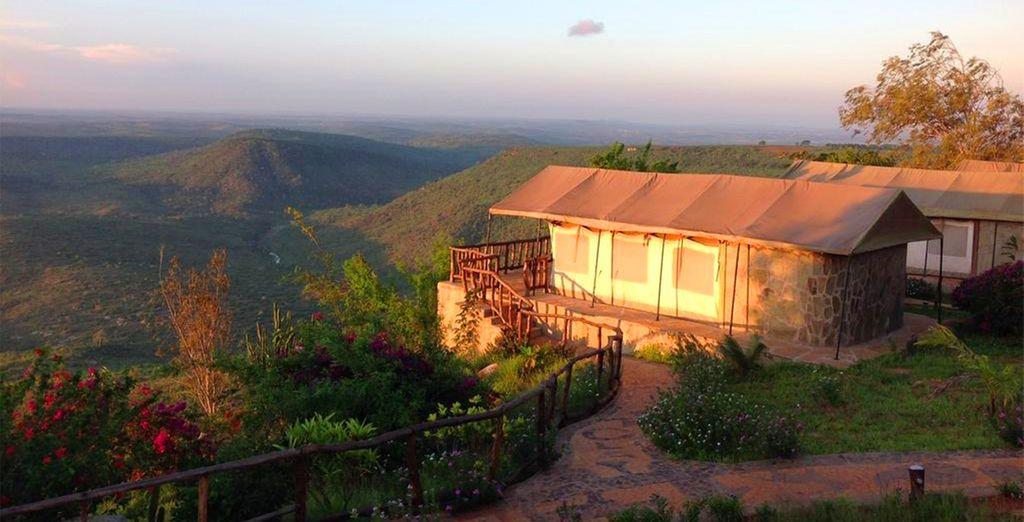 In some amazing locations (Green safari lodge)
