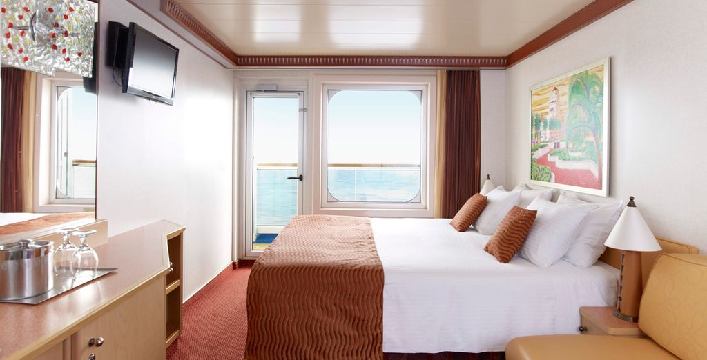 Stay in a Balcony Stateroom