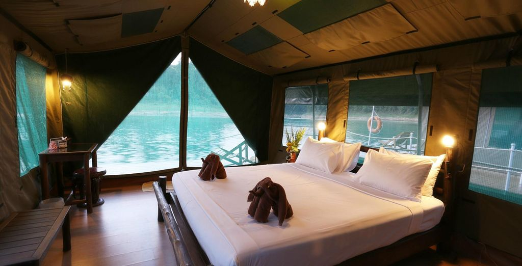 Relax in a Luxury Tent, overlooking the waters