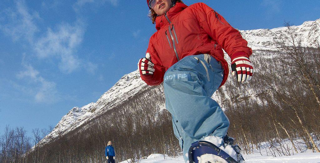 A snow shoe walk!