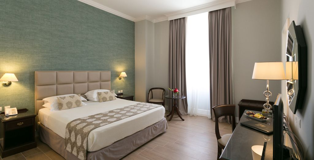 Our members can choose between 2 peaceful rooms (pictured: Premier Room)