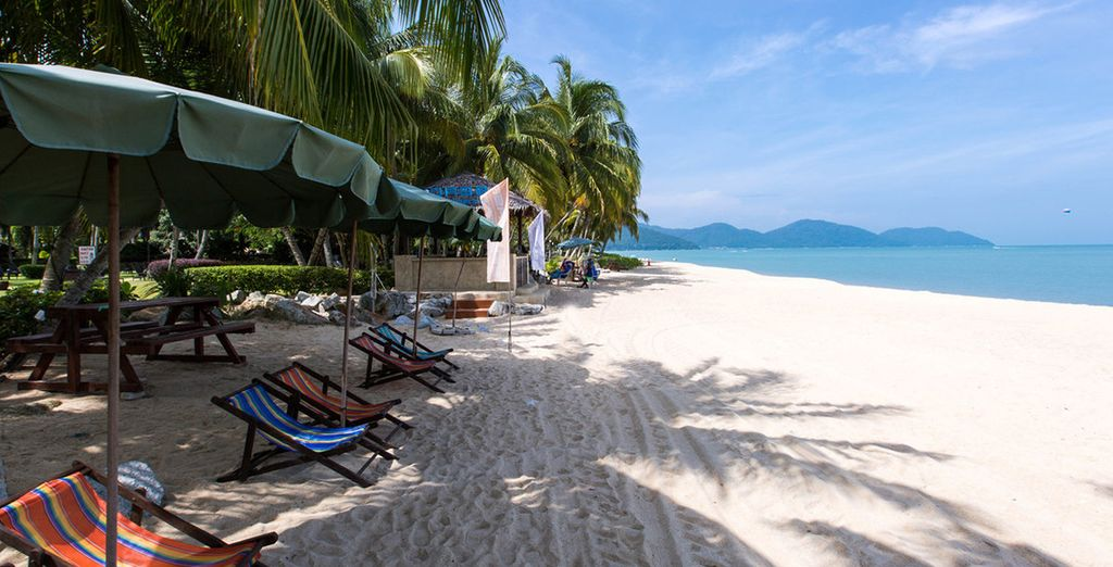 Next we will whisk you away to Penang's white sand beaches...