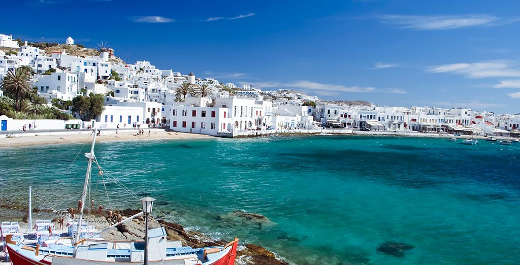 And its traditional Greek Island beauty