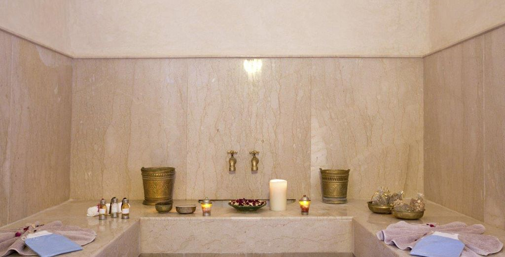 You can also enjoy the hammam, Jacuzzi & sauna free of charge