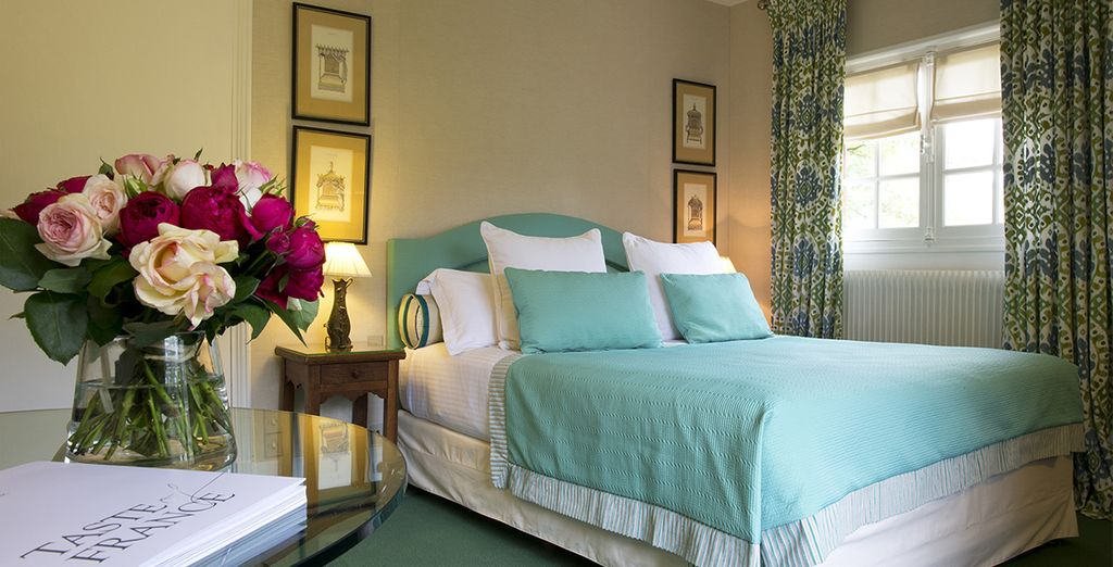 Stay in one of the individually decorated guestrooms