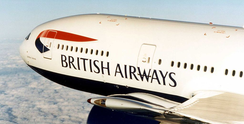 Choose from Economy or Club Class flights with British Airways