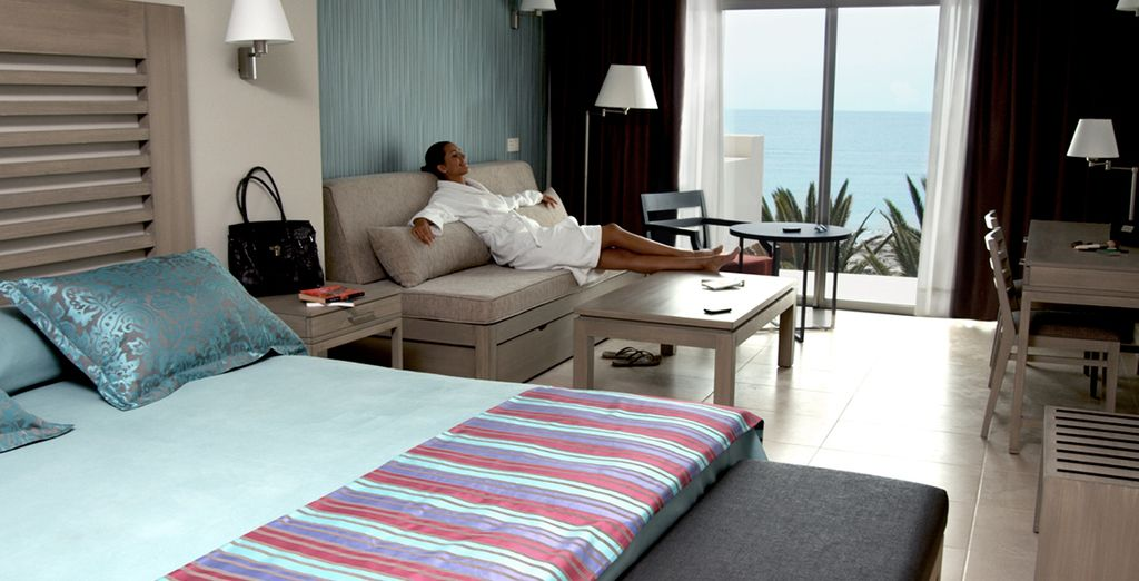 You will stay in a Junior Suite with Sea View