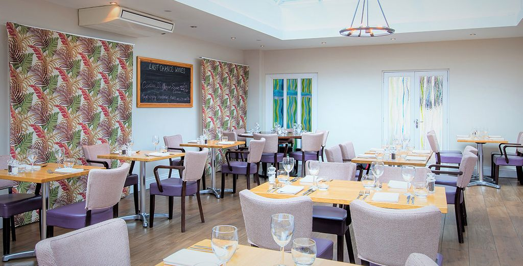 At the elegant  Iffley Blue Restaurant & Bar