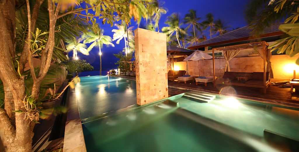 As night falls on the resort