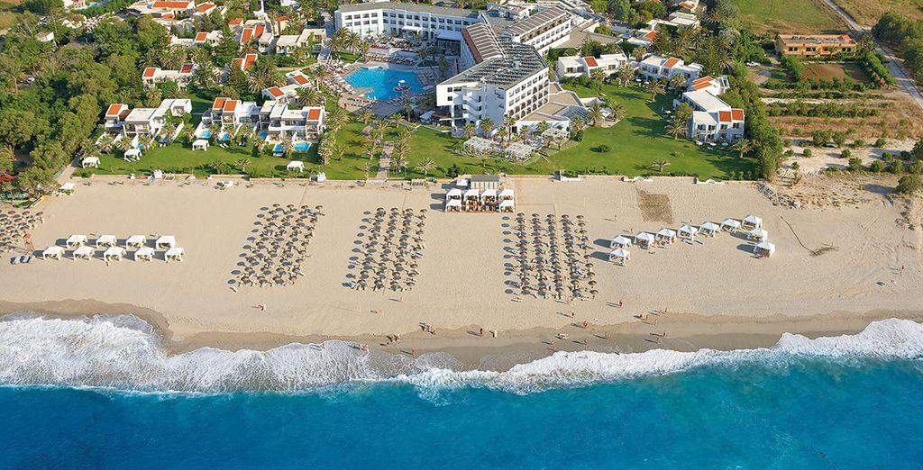 In sunny Crete, right on the coast