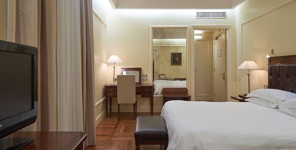 Comfortable bedrooms...