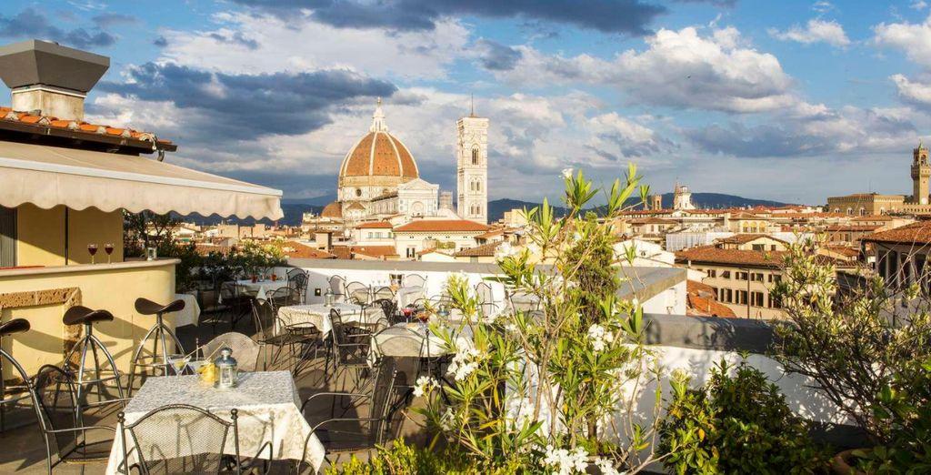 Take in the awe-inspiring rooftop views of the Duomo