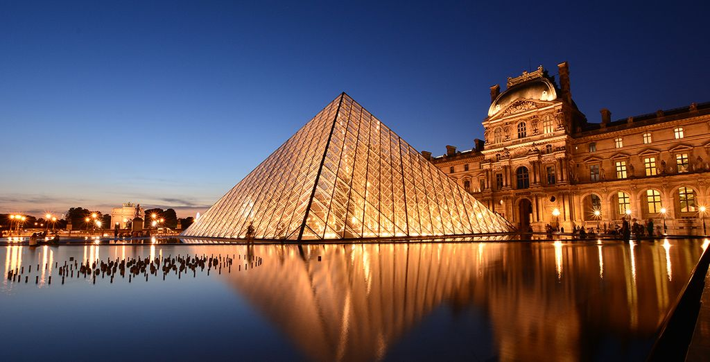 You're just minutes from the majesty of the Louvre