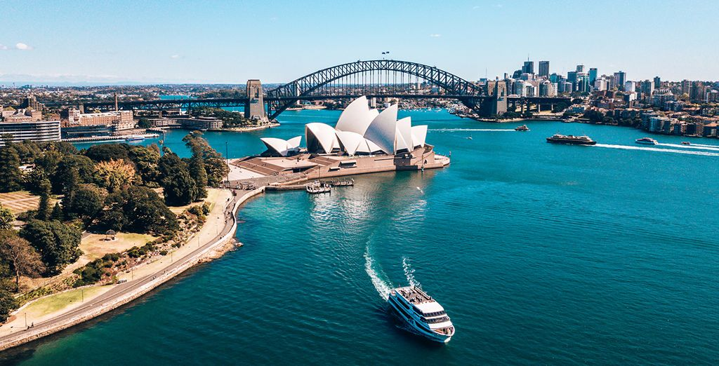 The Sydney Harbour Bridge and  th Sydney Opera House