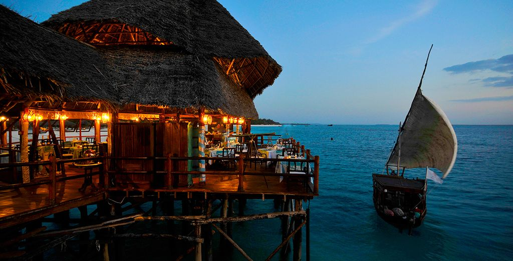 Dine al fresco during your all inclusive stay