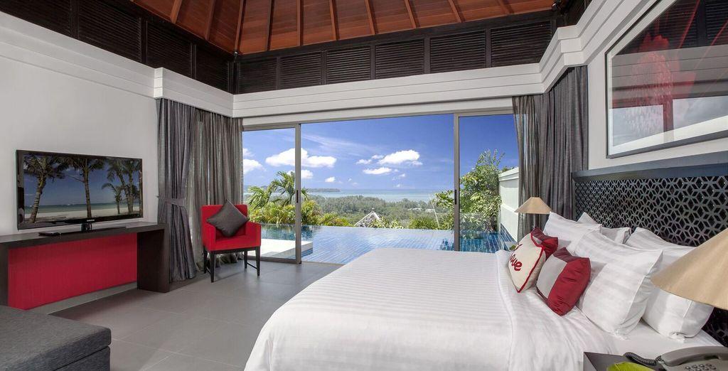 Stay in a beautiful Ocean View Pool Villa