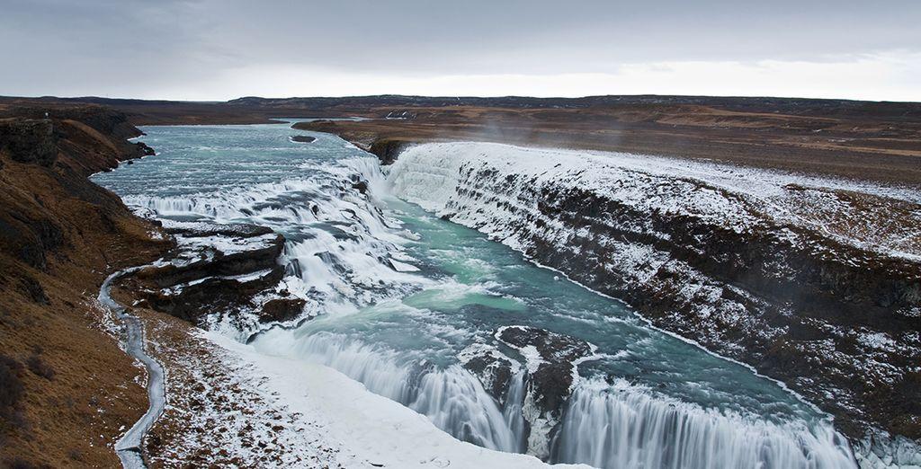 And explore Gullfoss Falls