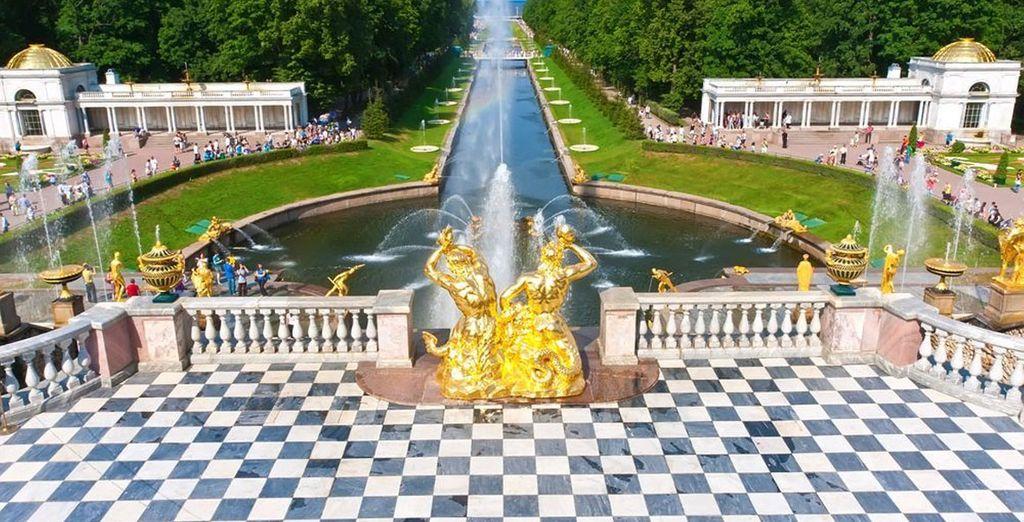 The Grand Cascade at Grand Peterhof Palace