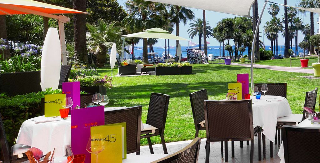 Dine outside on the terrace, if the weather permits