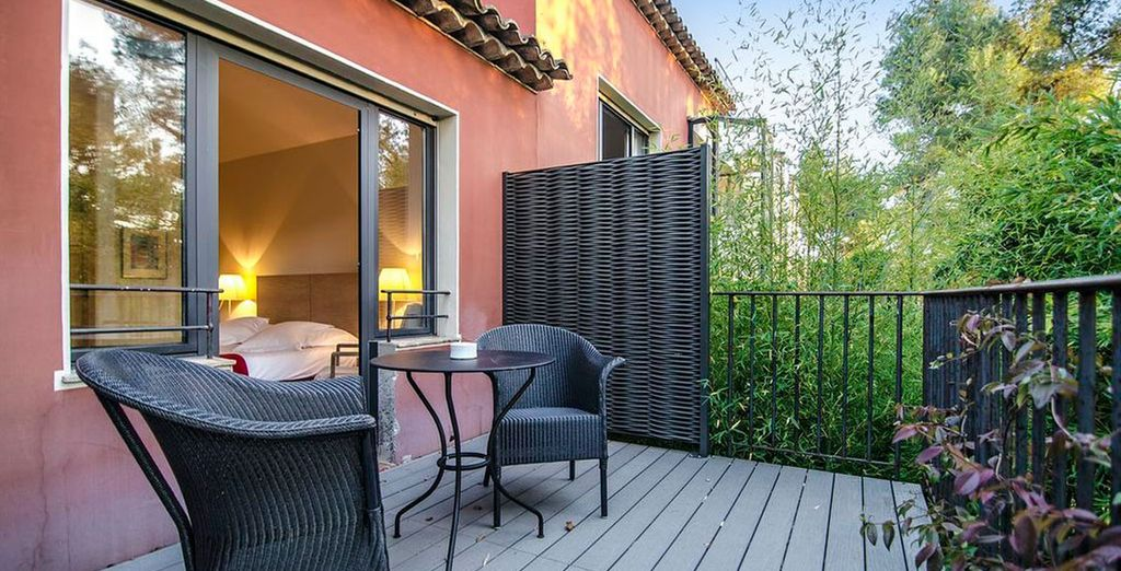 And a brilliant terrace!