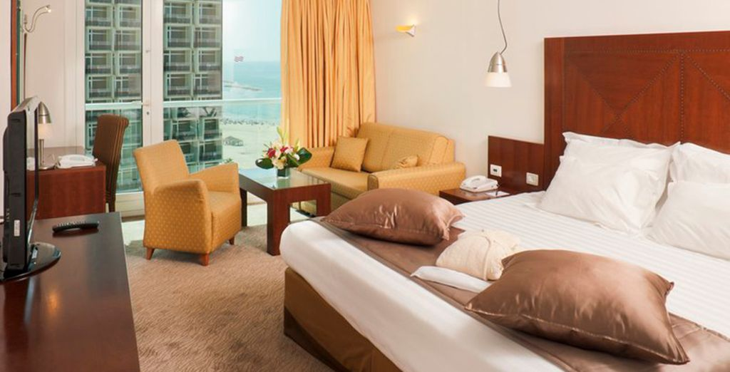 Your room is elegant and contemporary