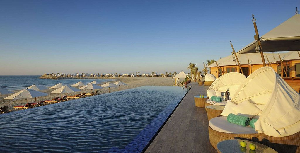 Cool off in this infinity pool