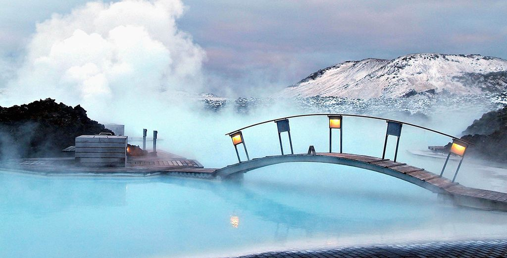 And bathing in the steamy Blue Lagoon