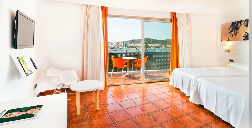 Sleep in a freshly designed Double Superior Room, complete with a balcony