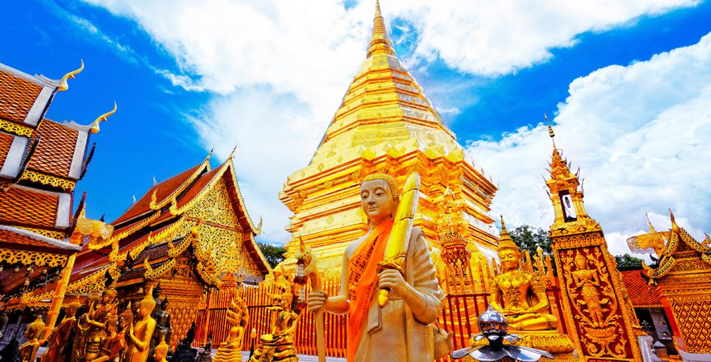 Admire Chiang Mai's sparkling golden temples