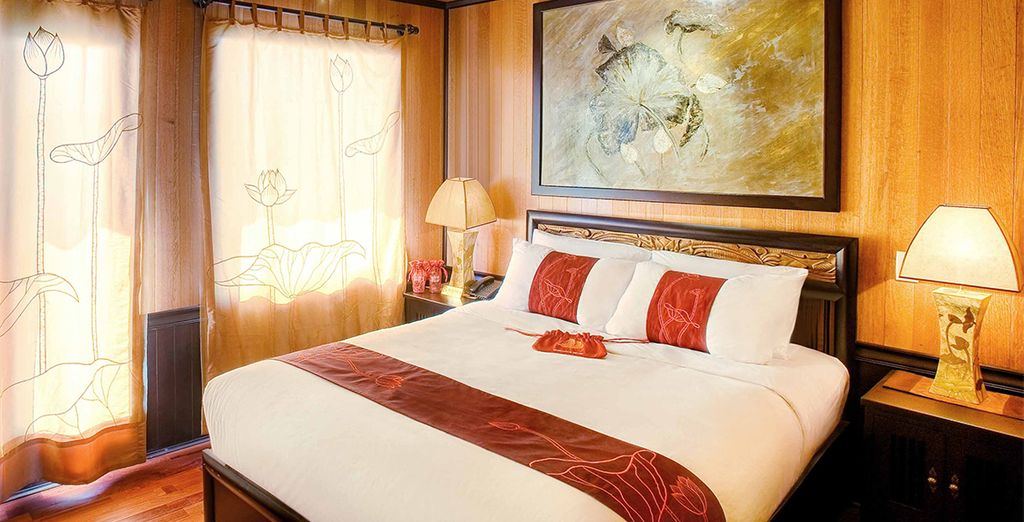 So you can be assured of rest and relaxation after the day's adventures (Indochina sails)