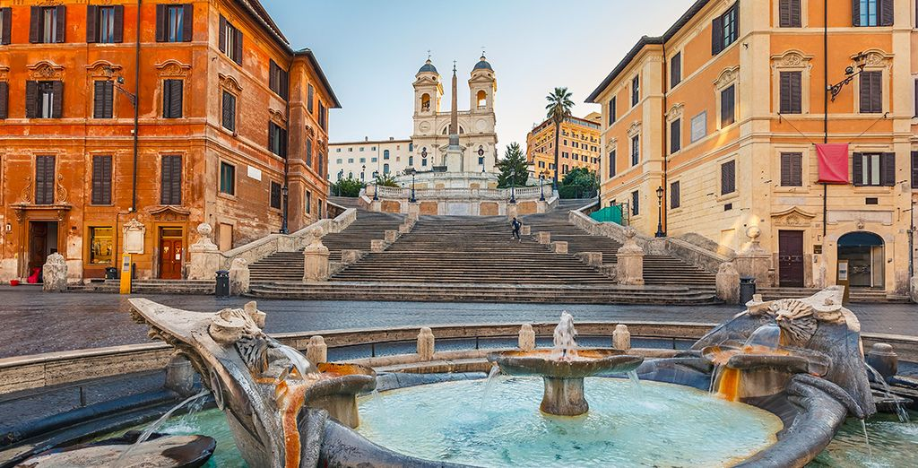 Just 600 metres from the Spanish steps