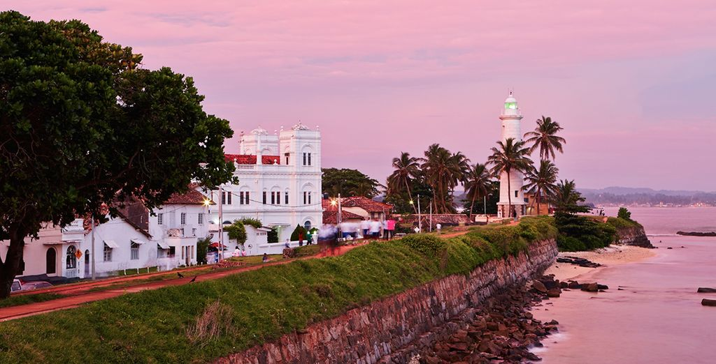 We've included some exciting excursions such as a tour of the ancient city of Galle