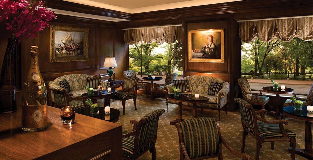 The illustrious hotel showcases a staggering collection of artwork and antiques!