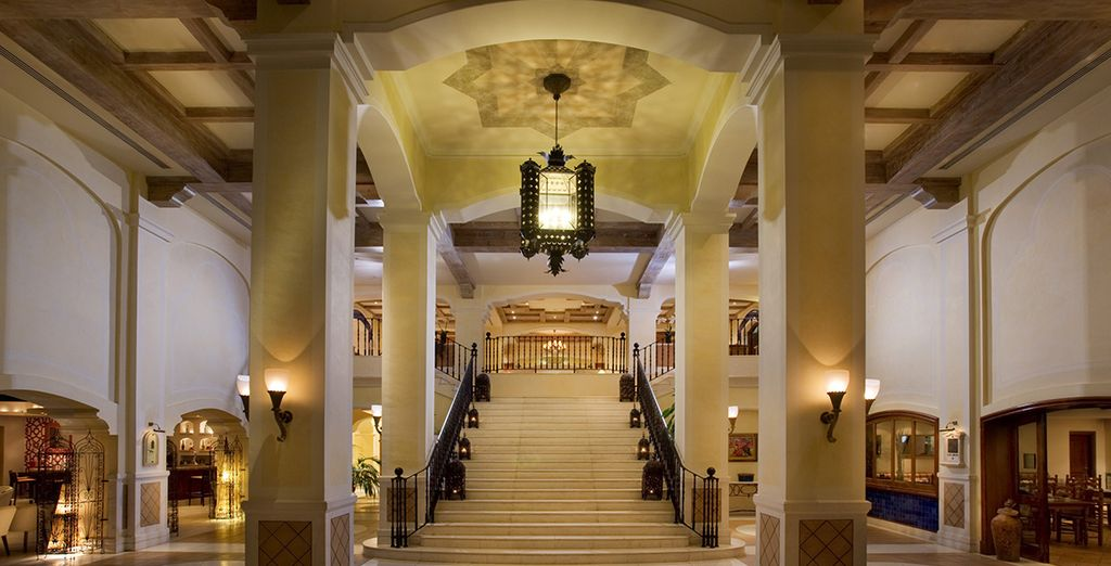 Admire the magnificent, grand interiors as you enter