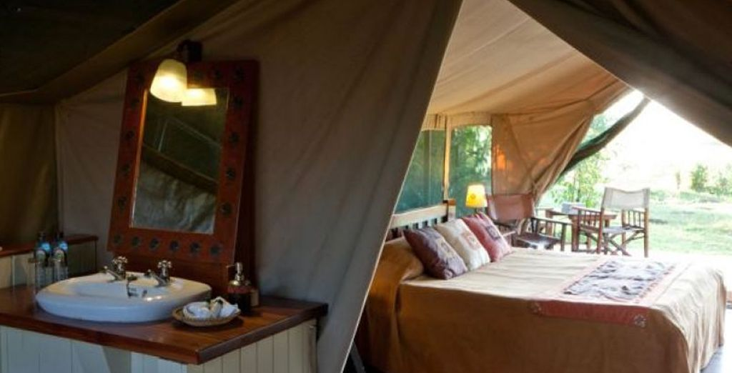 You'll have fantastic accommodation while on safari