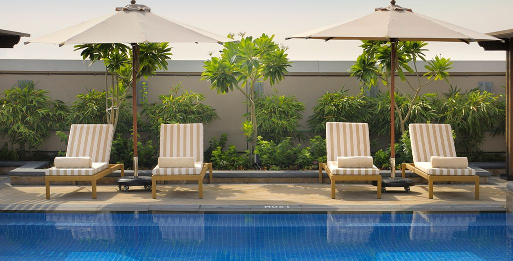 Cool off from the Arabian heat in the sparkling pool