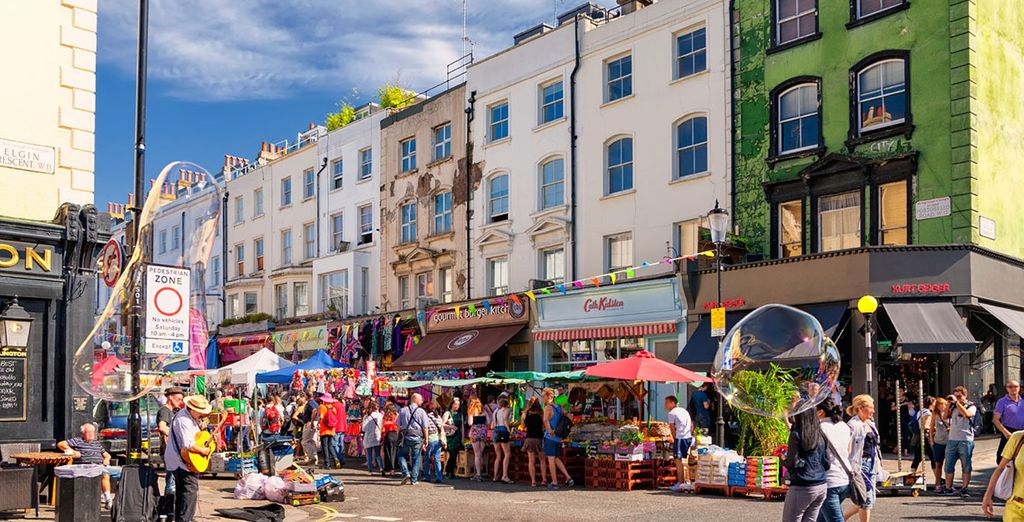 Or the Eclectic markets of Portobello Road in the West!