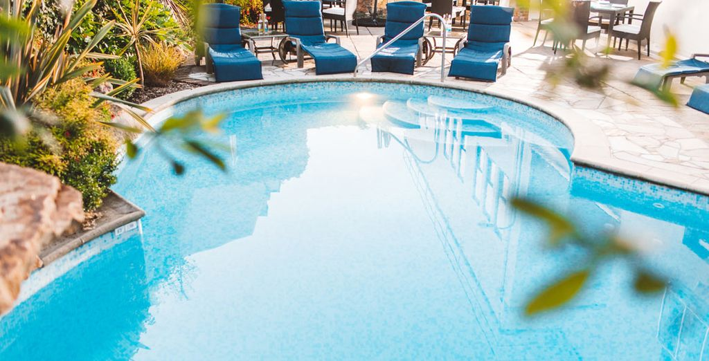 Or you can spend the day by the pool