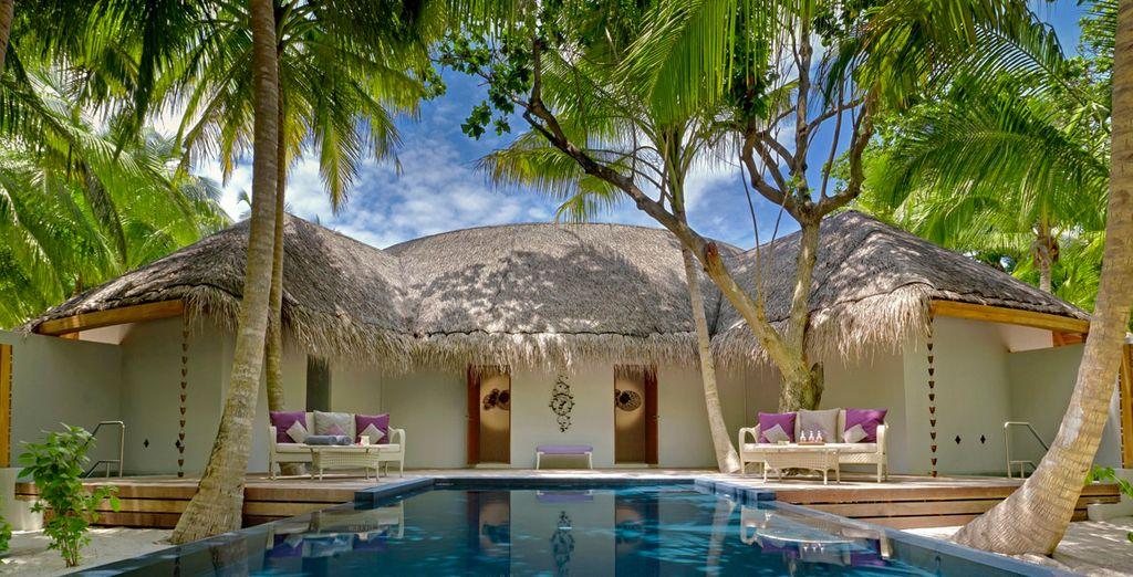 Retreat to the indulgent spa