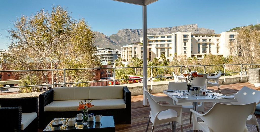 With panoramic Table Mountain views