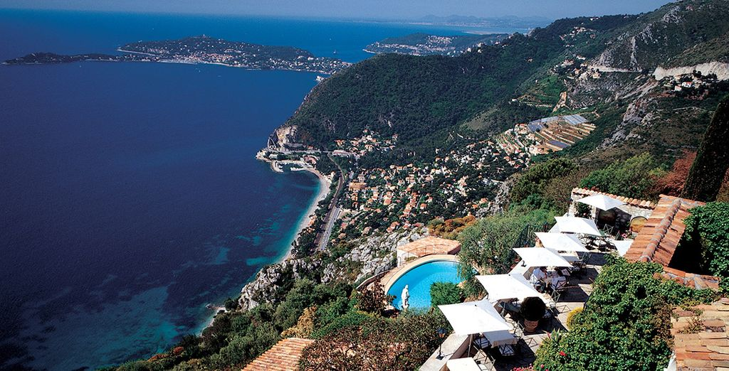 Or add car hire and set out to explore the Cote D'Azur