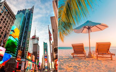 DoubleTree NY Times Square West y Viva Wyndham Fortuna Beach