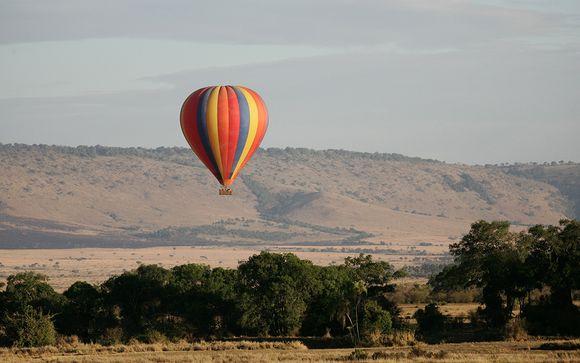 Heißluftballonflug