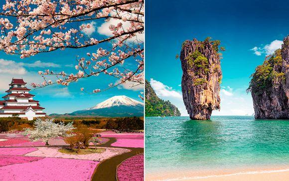 A los pies del Monte Fuji con opción a playa en Phuket