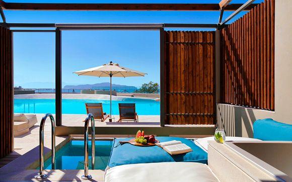 Exquisitez frente al mar con piscina plunge en la habitación